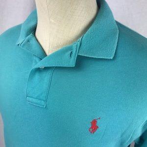 Polo Ralph Lauren blue soft cotton polo shirt 🐎